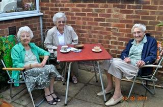 Tea in the garden, 10 August 2011