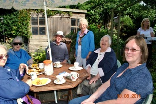 Tea in the garden, 10 August 2011