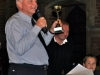 Revd Mervyn Terrett  presenting the cup at the first Betty Game Opportunities Trust Annual Quiz, 24 September 2010.