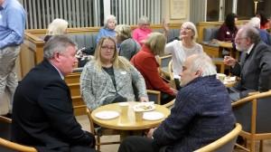 Enjoying refreshments and conversation in the Ingelheim Room, 22 November 2016. Photo by Debbie Mills.