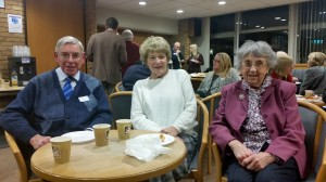 Supporters John and Margaret Walker and Jean Archer, 22 November 2016. Photo by Debbie Mills.