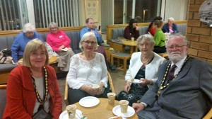 Pam Stuart, deputy mayor of Stevenage, with her consort and BGOT supporters, 22 November 2016. Photo by Debbie Mills.