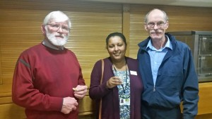 BGOT supporter Rodney Cole with graduate Fiona Brook, and her husband Tom. 22 November 2016. Photo by Debbie Mills.