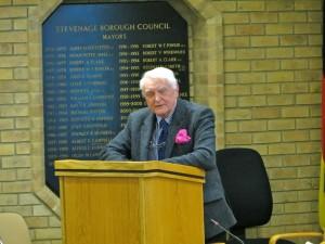Revd Mervyn Terrett speaking at the Reception on 22 November 2016. Photo by Steven Hodges.