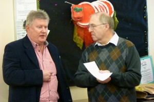 Jim Wilcock, chairman and Cliff Ireton, treasurer at the AGM
